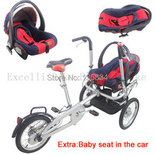 Baby Seat or Baby Chair of Baby Strollers 3 Weels Mother Bike 3in1 Convertible Carrier Bicycle