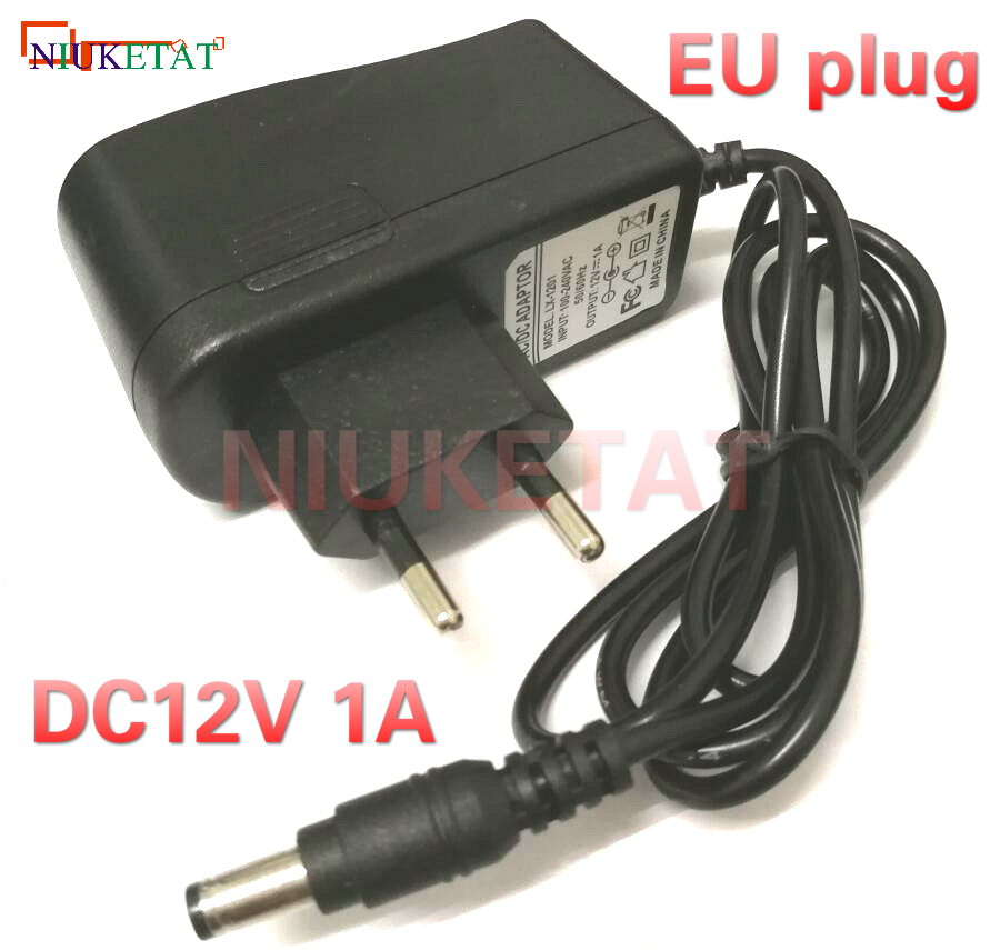 12V1A AC 100V-240V Converter power Adapter DC 12V 1A 1000mA Power Supply Adapter EU Plug DC 5.5mm x 2.1mm(2.5mm) drive led strip ...