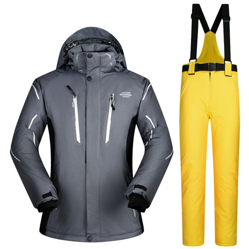 men snowboarding sets waterproof windproof thicken thermal skiing jackets and men ski snow pants suits male snowboard coats 2018 new lover men and women windproof waterproof thermal male snow pants sets skiing and snowboarding ski suit women jackets