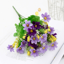One Bouquet Cute Silk Daisy Artificial Decorative Flower Wedding Home Room Table Decoration Sztuczne Kwiaty