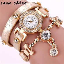 snowshine #10   Duoya Hot sale fashion luxury crystal pendant women watches women bracelet watch women wristwatch free shipping