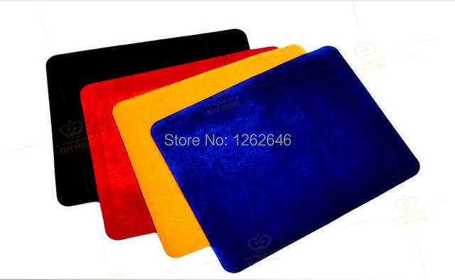 High quality Professional Card Mat, black/red/blue/yellow, Standard Size 42*32cm, pad for poker&coin,Accessories