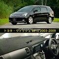 dashmats car-styling accessories dashboard cover for Toyota Wish ae10 2003 2004 2005 2006 2007 2008 2009 RHD