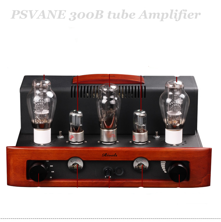 Nobsound Classic Wood PSVANE 300B 5z3p tube amplifier 8wx2 Single ended Class A handmade scaffolding amps