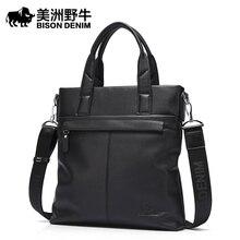 Brand Handbag BISON DENIM font b Men b font Shoulder font b Bags b font Tote