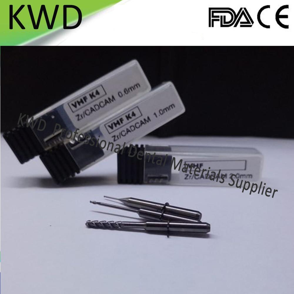 2 قطعة مفتوحة كاد كام نظام زركونيا VHF K4 طحن الأزيز مختبر الأسنان زركونيا طلاء طحن أداة 0.6/1.0 /2.0 مللي متر-في تبييض الأسنان من الجمال والصحة على  مجموعة 1