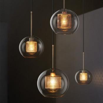 Loft Modern Nordic Pendant Lights for Dining Room Restaurant Desktop Bedroom Decorative Kitchen Glass Ball Hanging Lamps Fixture