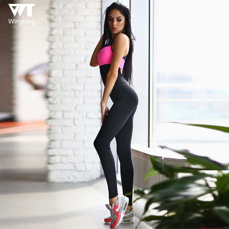 Wingteng One Piece Sports Pants Gym Women Yoga Leggings Sports Tights Fitness Running Outdoor Sportswear Woman Gym Clothes