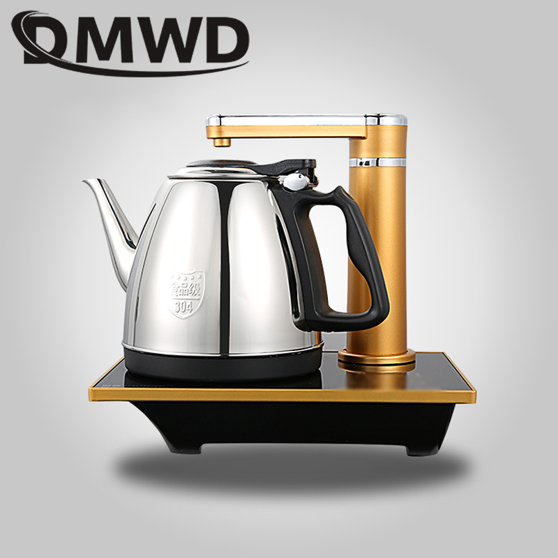 DMWD Intelligent household water heating kettle automatic electric kettle Mini Stainless Steel Teapot Water Dispenser boiler 1L цена и фото