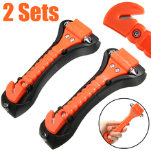 2 sets in 1 Car Safety Rescue Hammer Life Saving Escape Emergency Seat Belt Cutter Window Glass Breaker High Quality