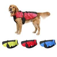 הכי חדש לחיות מחמד גדול כלב בגדי מעיל חיצוני צבעים סיטונאי מעיל חורף רצועת כלב פונצ 'ו עמיד למים עם חגורה