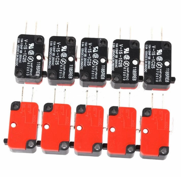 1PCS V-15-1C25 15A Micro Limit Switch Push Button SPDT Momentary Snap Action Inching Switch, Travel Switch,