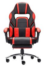 High-back Faux Leather Office Gaming Computer Chair Thick Padded Extendable Racing Gaming Executive Chair with Footrest все цены