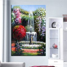 Extra Large wall Painting of fountain Home Office Decoration paint Canvas Prints No Framed Canvas wall picture Giclee art