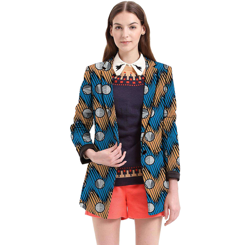 1e3c6ca0c5920 African clothing print women's long trench casual design women outfits  Overcoat African coat dashiki clothes