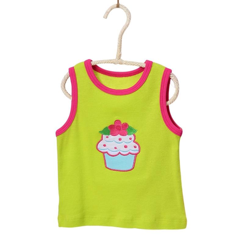 Nowy 5 sztuk / partia Niemowląt Bawełna Kamizelka Koszula Letnie - Odzież dla niemowląt - Zdjęcie 5