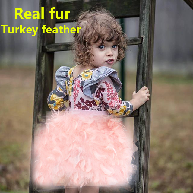 Kinder toddler child baby kid clothes robocar costume roupas fur coat vestido girl outerwear real fur skirt Fire chicken feather