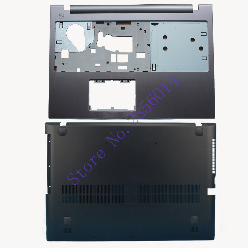 New For Lenovo Z500 P500 TOP COVER Palmrest Upper Case +Bottom Base Cover Case new for msi gp62 top cover palmrest cover upper case 307 6j1c261 y31 e2p 6j10236 y31 bottom base case cover