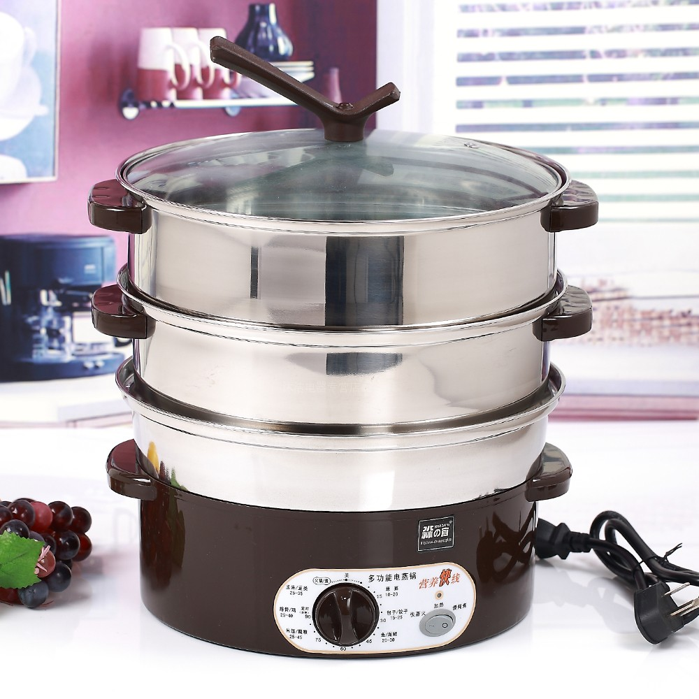 Large Electric Food Steamer ~ Electric steamer stainless steel multifunctional super