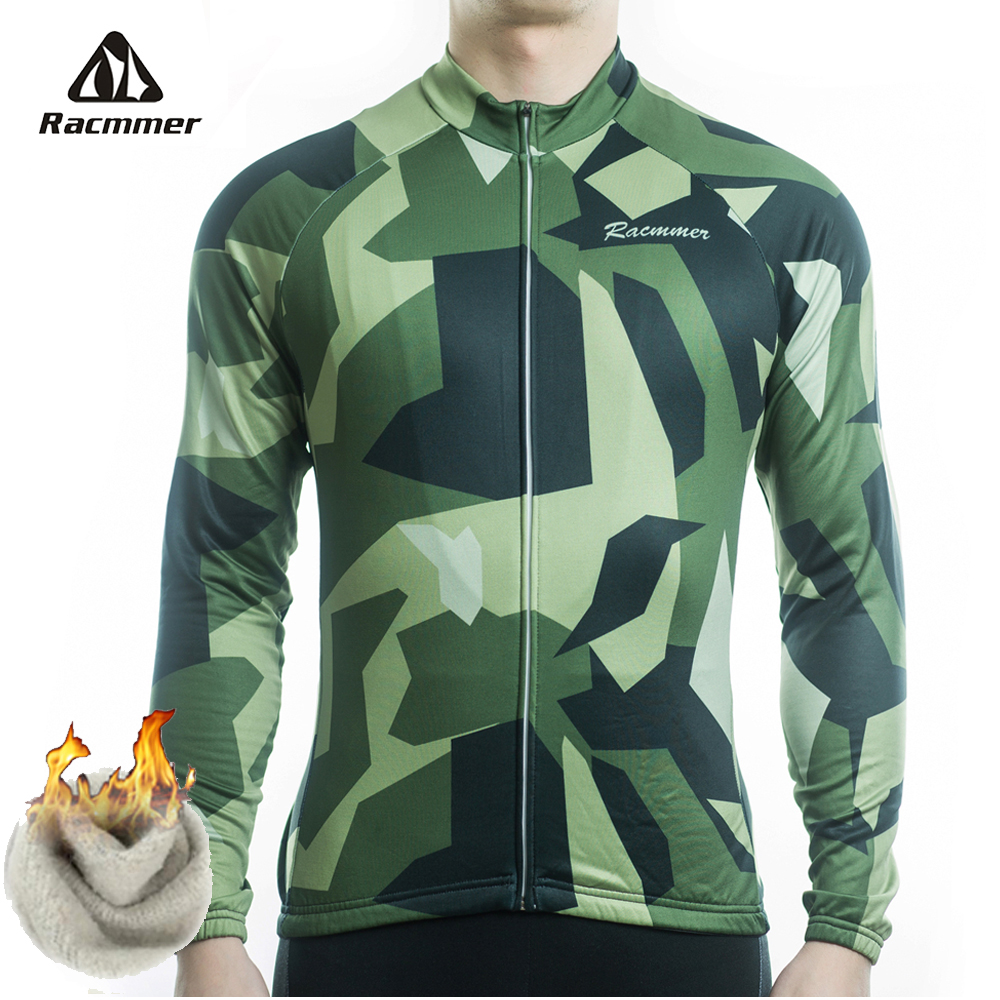 Racmmer 2019 Cycling Jersey Winter Long Bike Bicycle Thermal Fleece Ropa Roupa De Ciclismo Invierno Hombre Mtb Clothing #ZR-30