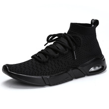 New Casual Shoes Sneakers For Men Masculino Esportivo Lightweight Flying Sport Cheap Sneaker Free Adj Stability High Help Shoes