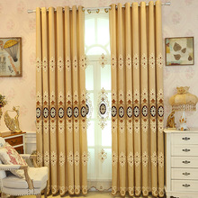 European Style Living Room Curtain Embroidery Product Customization High Precision Windows Window Curtain Study Bedroom Villa