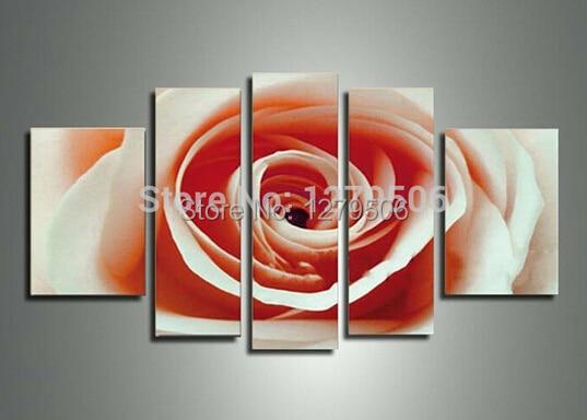 ᗕfait La Main Abstraite Moderne Fleurs Peinture Huile Sur