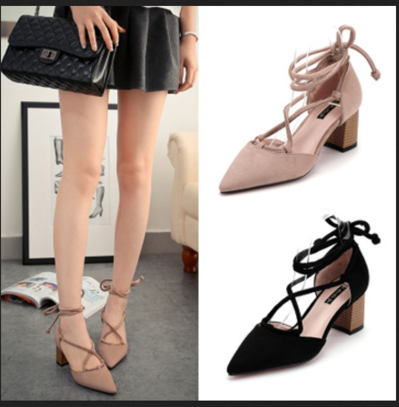 Womens Suede Lace up Block Heel Sandal Promotion-Shop for ...