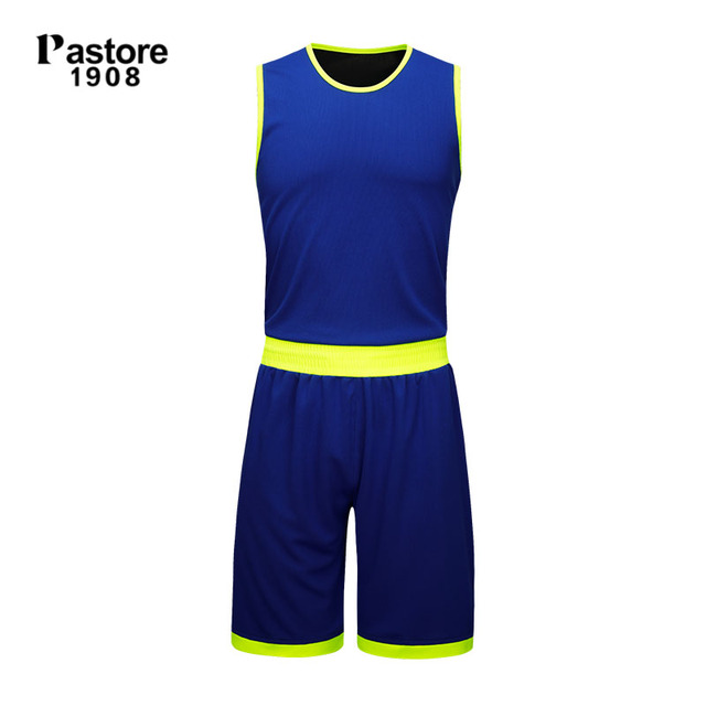 c573401af57 pastore1908 Basketball Jersey suit mens reversible jerseys breathable  running sportswear set Personalise pattern custom jersey