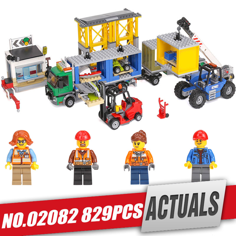 Lepin 02082 Genuine 829Pcs City Series The Cargo Terminal Set legoing 60169 Building Blocks Bricks Educational Toy As Gift Model a toy a dream lepin 02043 718pcs building blocks bricks new genuine city series airport terminal toys for children gifts