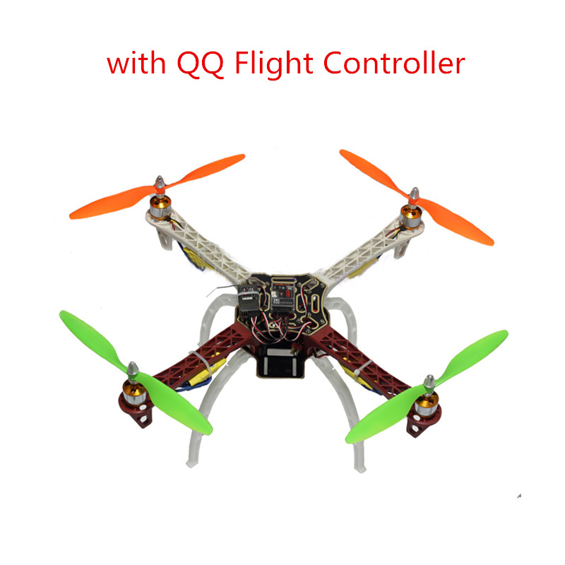 купить F450 450 Quadcopter MultiCopter Frame Kit with QQ Flight Controller 2212 Motor+30A ESC+1045 Prop Propeller for F550 550 онлайн