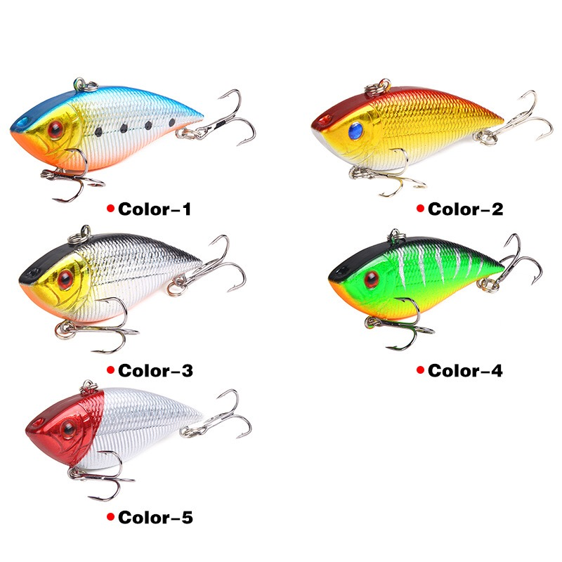 Image 5 - 1PCS Fishing Sinking VIB Lure 10g 7cm Vibration Vibe Rattle Hooks Baits Crankbaits  Wobbler Fishing Jig Wing Tackle-in Fishing Lures from Sports & Entertainment