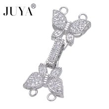 Diy Jewelry Findings Bijoux Zircon Butterfly Clasps For Bracelets Necklaces Copper Animal Micro Pave Jewelry