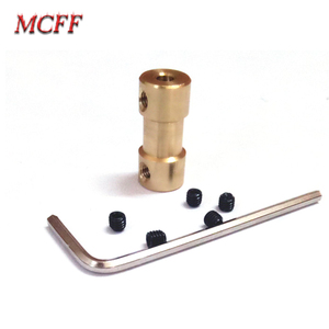 Image 2 - 2/2.3/3/3.17/4/5/6mm Brass Rigid Motor Shaft Coupling Coupler Motor Transmission Connector with Screw Wrench For Model RC Toys