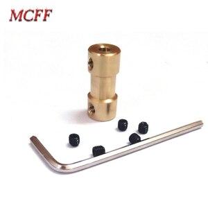 Image 2 - 2/2.3/3/3.17/4/5/6mm pirinç sert Motor şaftı kaplin çoğaltıcı Motor şanzıman konnektörü vidalı anahtarı model RC oyuncak