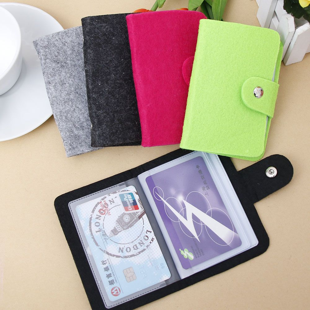 1PC Fashion ID Credit Card Wallet Holder Organizer Case Pocket  Jewelry Package Bag Business Card Holder Gift