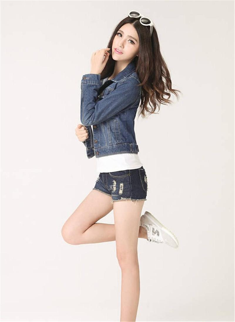 ccffae2479d New Spring Summer 2017 Plus Size Vintage Cropped Short Denim Jacket  Long-Sleeve Cardigan Coat Jeans Jacket Women