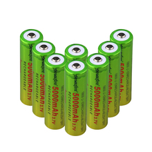 1/2/4/6/8 Pieces Green+yellow Li-ion 18650 5000mAh Rechargeable Batteries 3.7 V 18650 Li Ion Lithium Battery Cells Replacement fandyfire 3 7v 2000mah rechargeable 18650 li ion batteries yellow 2 pcs