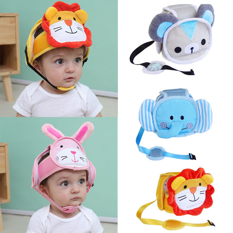 Cartoon Baby Head Protection Hat Baby Toddler Drop Crash Cap Shatter-Resistant Child Safety Helmets Head Cap Walking Assistant