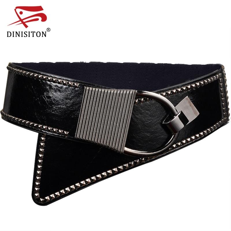 DINISITON Punk Rocker Cummerbunds Wide Belts For Women High Quality Elastic Girdle Fashion European Style Women Strap CMYF06