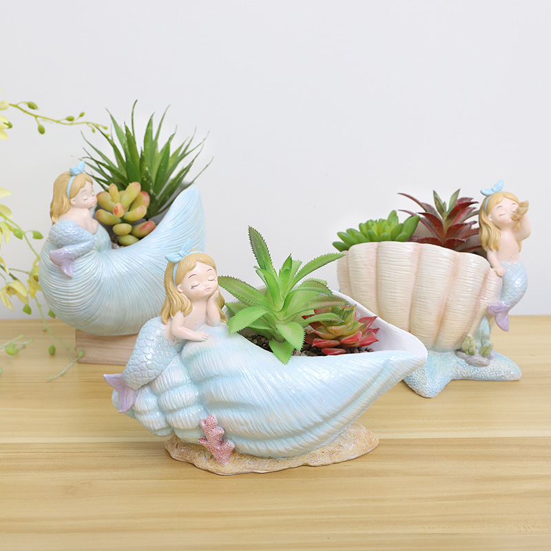 1pcs Cartoon Beauty Girl Succulent Plant Flowerpot Mini Bonsai Cactus Planter Flower Pot Home Garden Wedding Birthday Party Gift