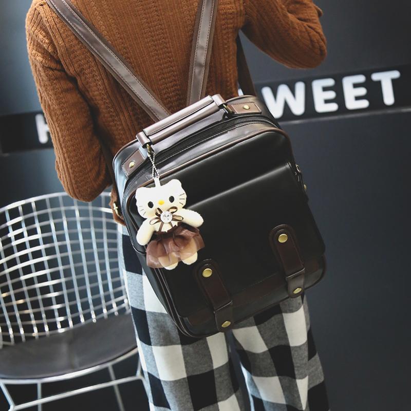 Sac À Dos Marron En Cuir PU Style Fashion