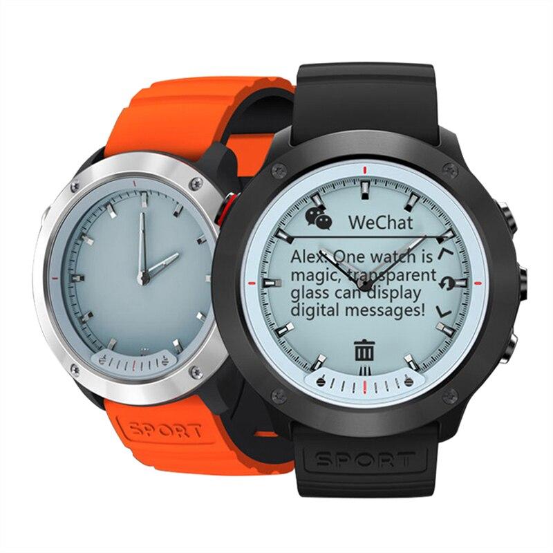 OGEDA M5 écran Transparent montre intelligente hommes IP68 étanche moniteur de fréquence cardiaque en acier inoxydable horloge Smartwatch pour IOS Android