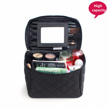 Large Cosmetic Bag Make up Cases Organizer Beauty Vanity Makeup Box Women Travel Necessarie Toiletry Wash Pouch With Mirror