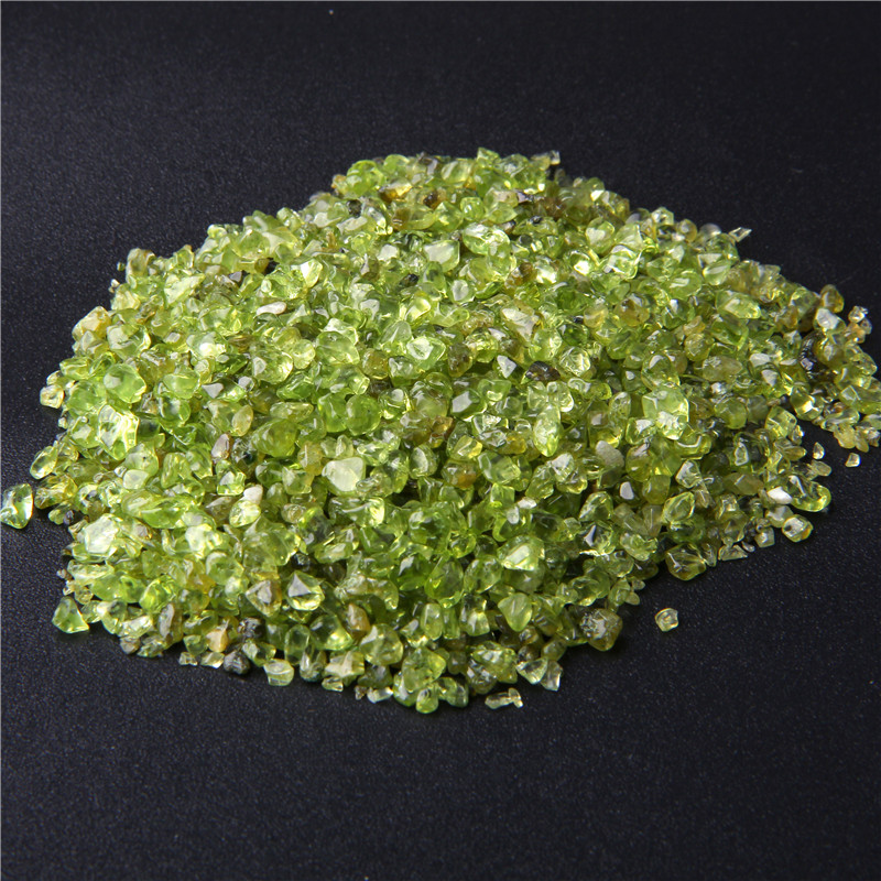 Beads Green Rock-Chips-Beads Peridot Crystal Tumbled-Stone Jewelry-Making Olivine-Chip title=
