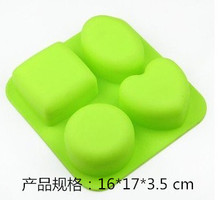 different shapes of DIY creative ice soap cake making grid mold microwave oven baking chocolate
