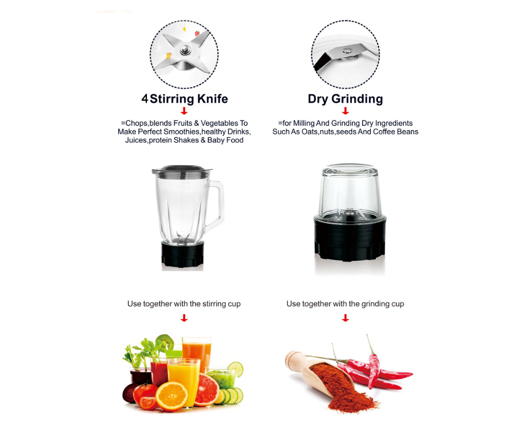 Multifunction electric food standing blender mixer high quality ...