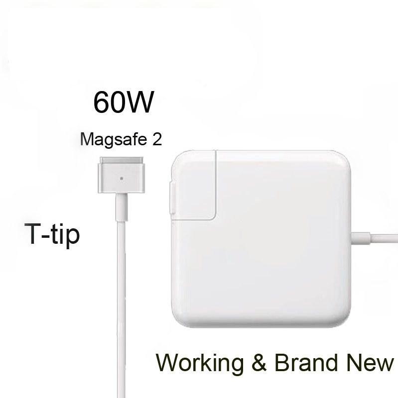 Crazy Cow New magsafe 2 60W 16.5V 3.65A T tip Laptop power adapter charger for apple Macbook pro 13 A1435 A1465 A1425 A1502 new original magsafe 2 45w 14 85v 3 05a laptop power adapter charger for apple macbook air 11 13 a1465 a1436 a1466 a1435