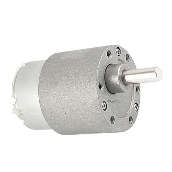 10RPM Output Speed 37mm Diameter 12V 0.4A DC Geared Motor zgb37rg dc 12v 37mm cylindrical 5rpm output speed dc geare motor diy robot