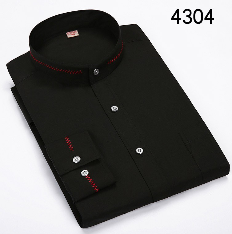 Mandarin-Collar-Men-Shirts-Classic-Long-Sleeve-Brand-Formal-Business-Fashion-Dress-Shirts-spring-camisa-masculina